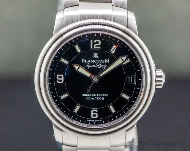 Blancpain 2100-1130A-71 Leman Aqualung Ultra Slim Automatic 100 Hours SS / SS
