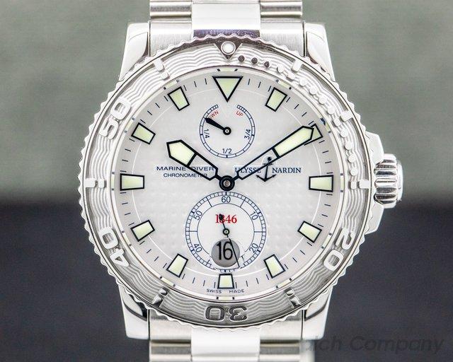 Ulysse Nardin 263-33-7 263-33-7 Maxi Marine 1846 Diver Silver Dial SS