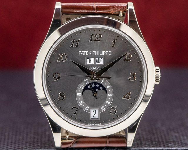 Patek Philippe 5396G-014 Annual Calendar White Gold Grey Dial
