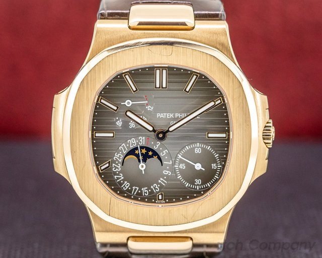 Patek Philippe 5712R-001 Jumbo Nautilus Power Reserve Moon 18K Rose Gold