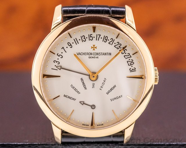 Vacheron Constantin 86020/000r-9239 Patrimony Bi Retrograde Day & Date 18K Rose Gold