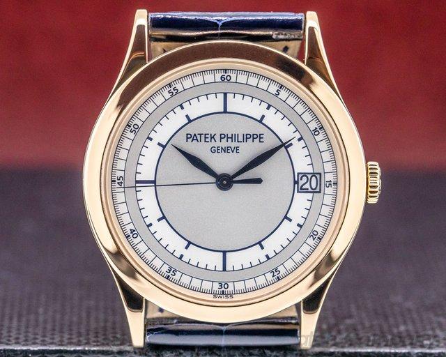Patek Philippe 5296R-001 Calatrava 18K Rose Gold Sector Dial