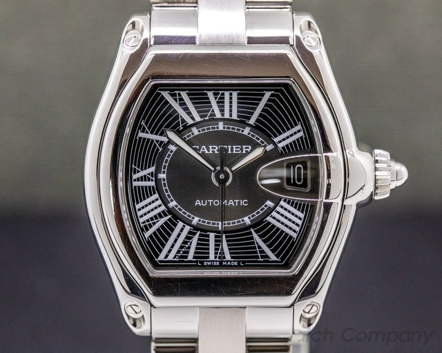 Cartier W62041V3 Roadster Black Dial SS / SS