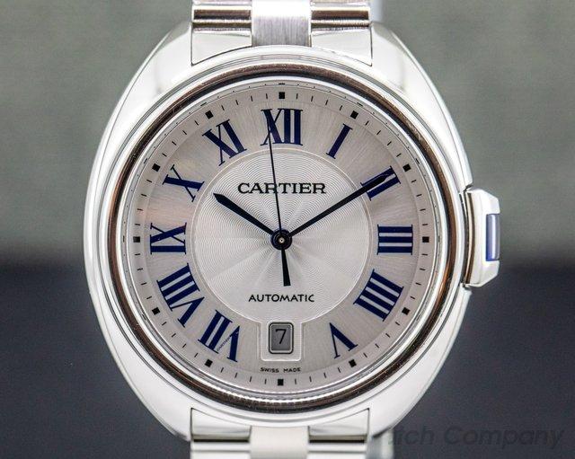 Cartier WSCL0007 Cle De Cartier SS Automatic Silver Dial