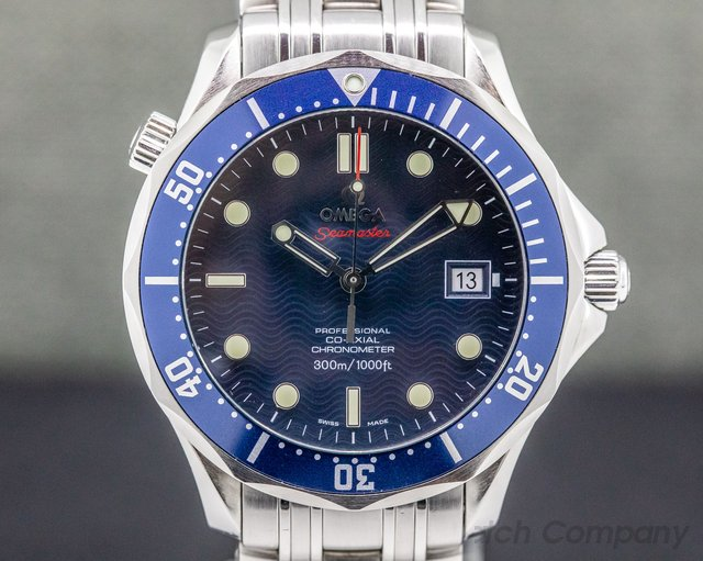 Omega 2220.80.00 Seamaster Pro Blue Wave Dial Co-Axial Automatic