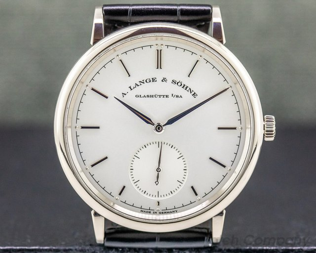 A. Lange and Sohne 380.026 Saxonia Automatik 18K White Gold / Silver Dial