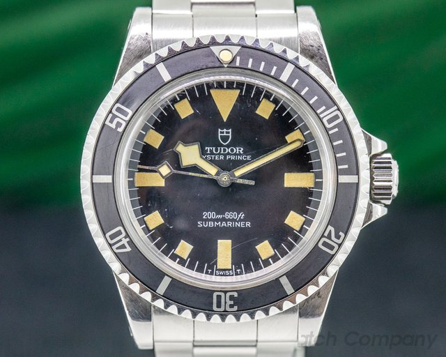 "Tudor 94010 Vintage Submariner Matte Dial No Date ""Snowflake"" SS"