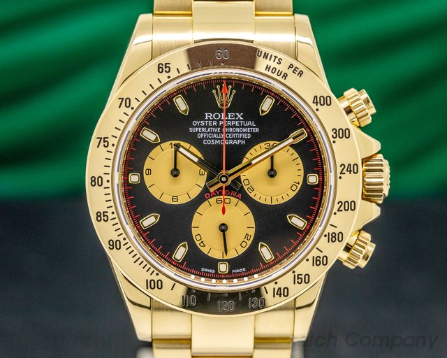 "Rolex 116528 Daytona 18K Yellow Gold / Black Dial ""Paul Newman"""