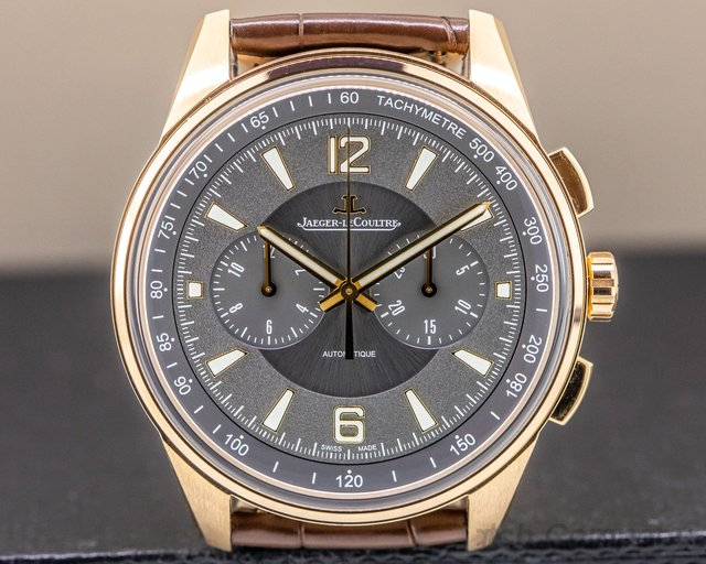 Jaeger LeCoultre Q9022450 Polaris Chronograph 18k Rose Gold / Grey Dial