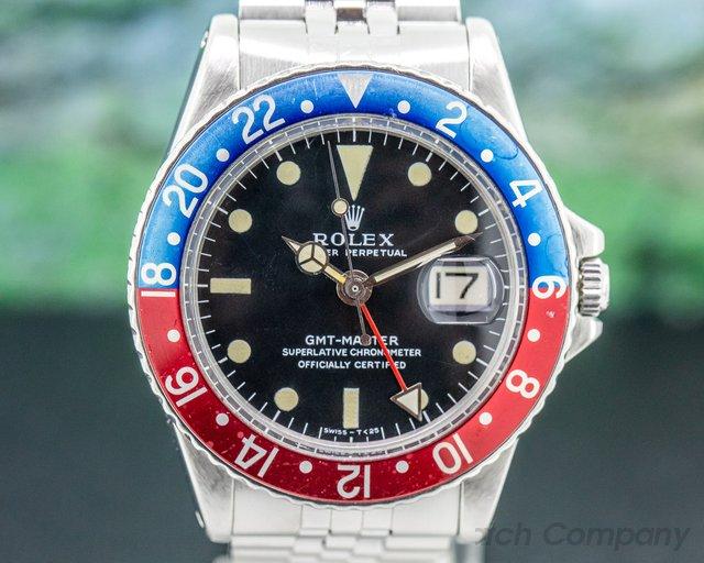 """Rolex 1675 Vintage Pepsi GMT Master """"Long E"""" Dial c. 1972"""