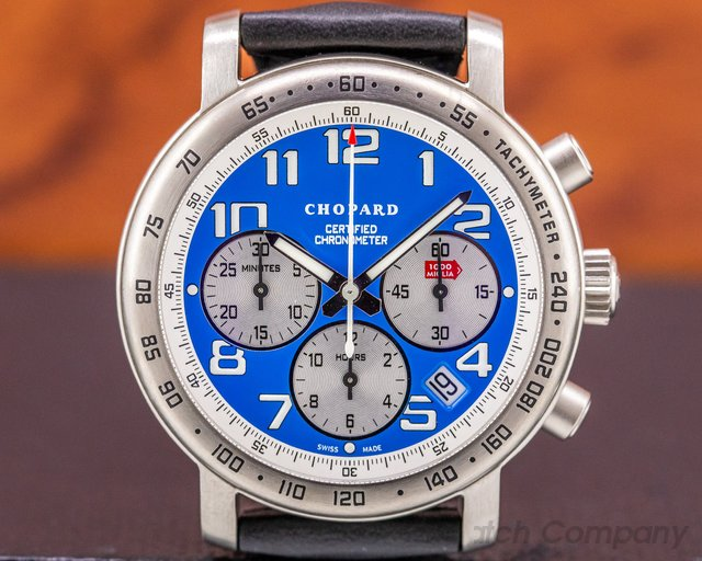 """Chopard 16/8915/103 Mille Miglia Blue Dial Limited Edition """"Vintage Blue"""""""