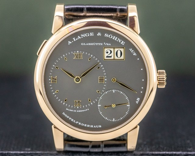 A. Lange and Sohne 101.033 Lange 1 Grey Dial 18K Rose Gold 38.5MM