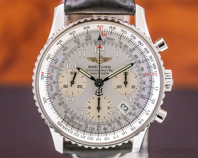 Breitling A23322 Navitimer Chronograph SS Silver Dial