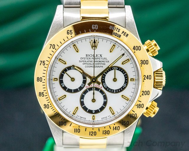 Rolex 16523 Zenith Daytona Cosmograph 18K Yellow Gold / SS NEW OLD STOCK