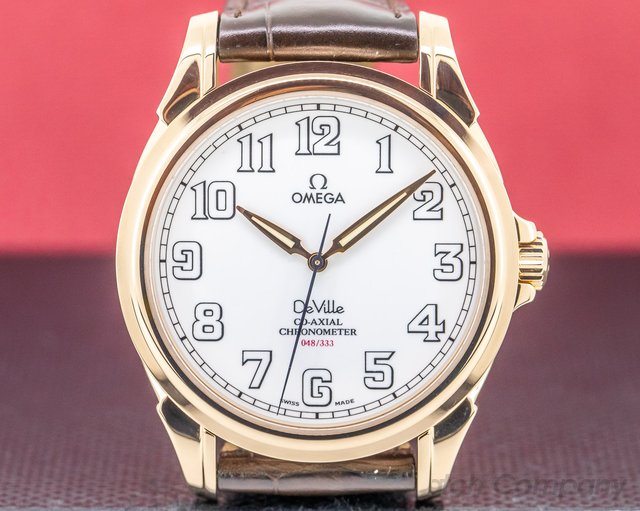 Omega 4660.20.32 De Ville Co-Axial 18K Rose Gold Limited Edition 44MM