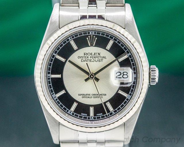 "Rolex 116234 Datejust SS Silver / Black Dial ""Tuxedo"""
