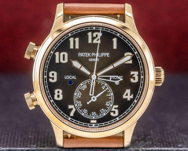 Patek Philippe 5524R-001 Calatrava Pilot Travel Time 18k Rose Gold UNWORN