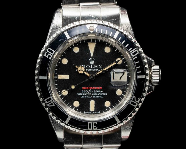 Rolex 1680 RED  Submariner RED MK IV Circa 1973 SS