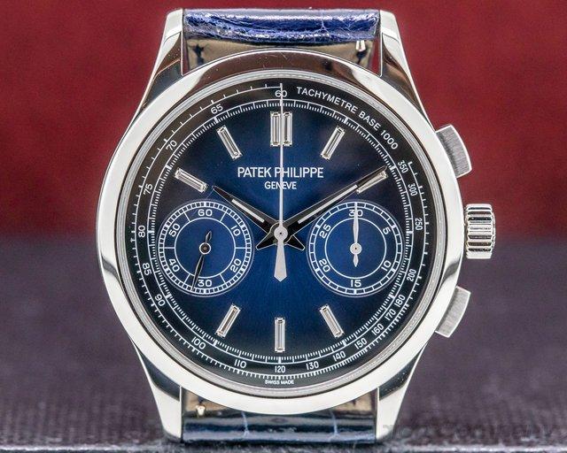 Patek Philippe 5170P-001 Chronograph Platinum Blue Diamond Dial FULL SET