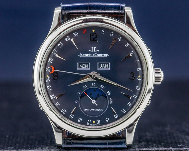 Jaeger LeCoultre 140.640.986B Master Moon Platinum Limited Edition RARE LIMITED