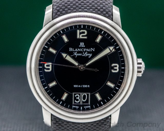 "Blancpain 2850B-1130A-64B Aqualung SS Big Date SS / Rubber ""VLADIMIR PUTIN"""