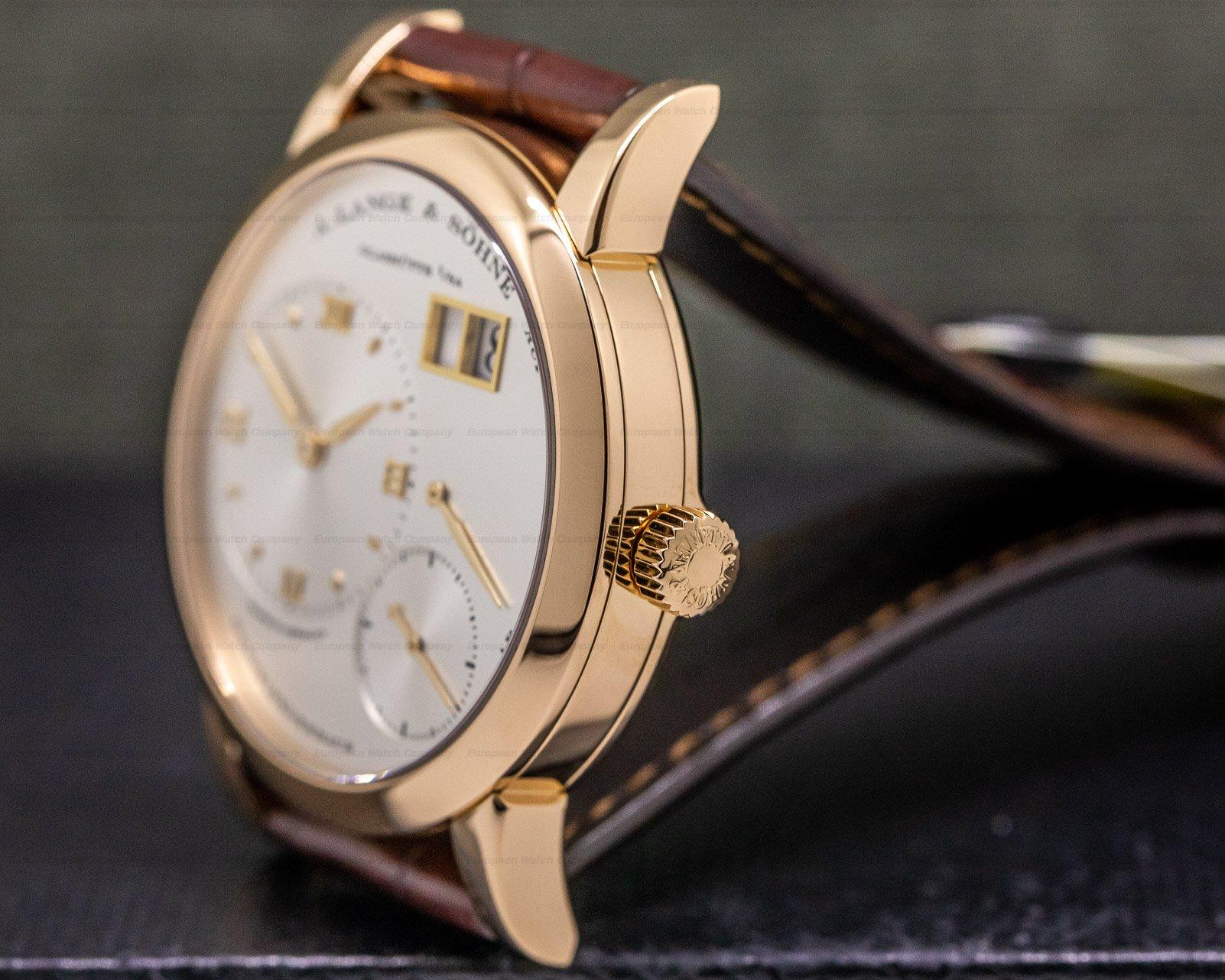 A. Lange and Sohne 101.032 Lange 1 18K Rose Gold Silver Dial