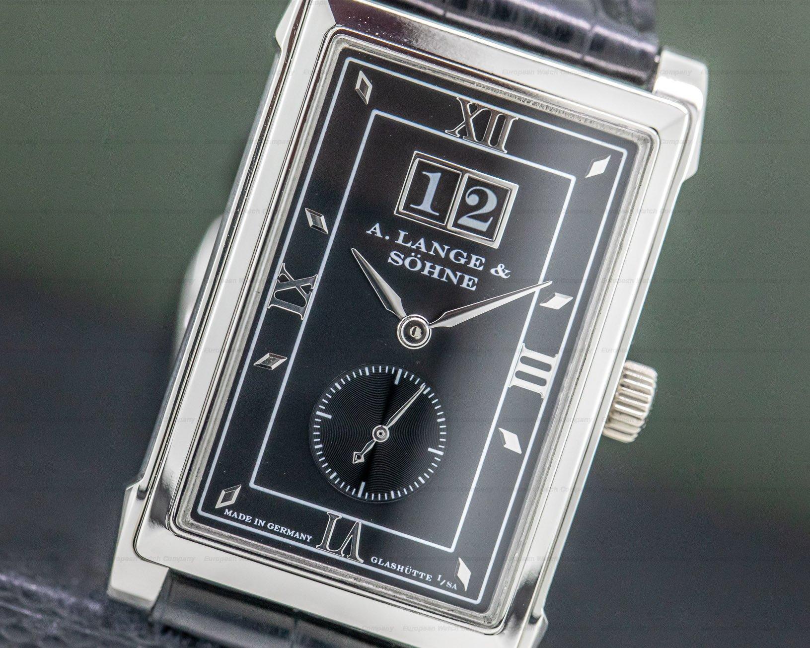 A. Lange and Sohne 107.035 Cabaret Platinum Black Dial RARE