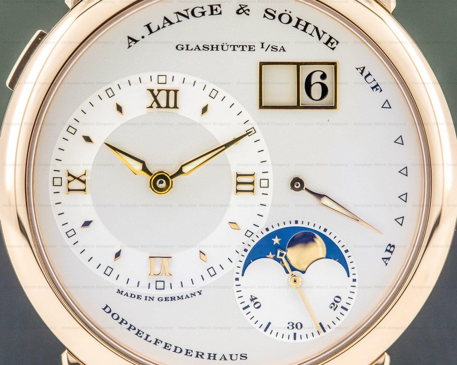A. Lange and Sohne 109.032 Lange 1 Moon 18K Rose Gold / Tang Buckle