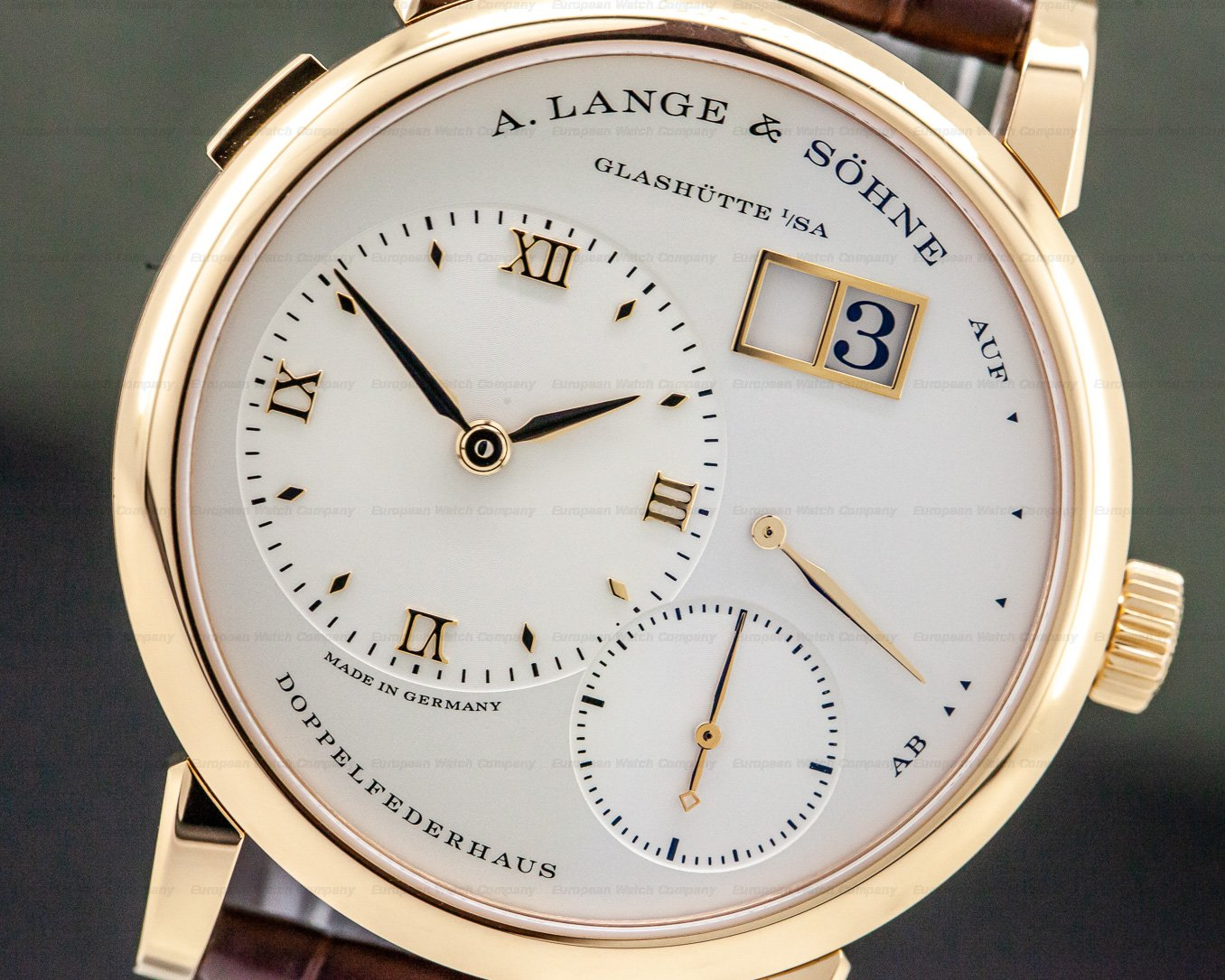A. Lange and Sohne 191.032 Lange 1 18K Rose Gold / Deployant NEW MOVEMENT