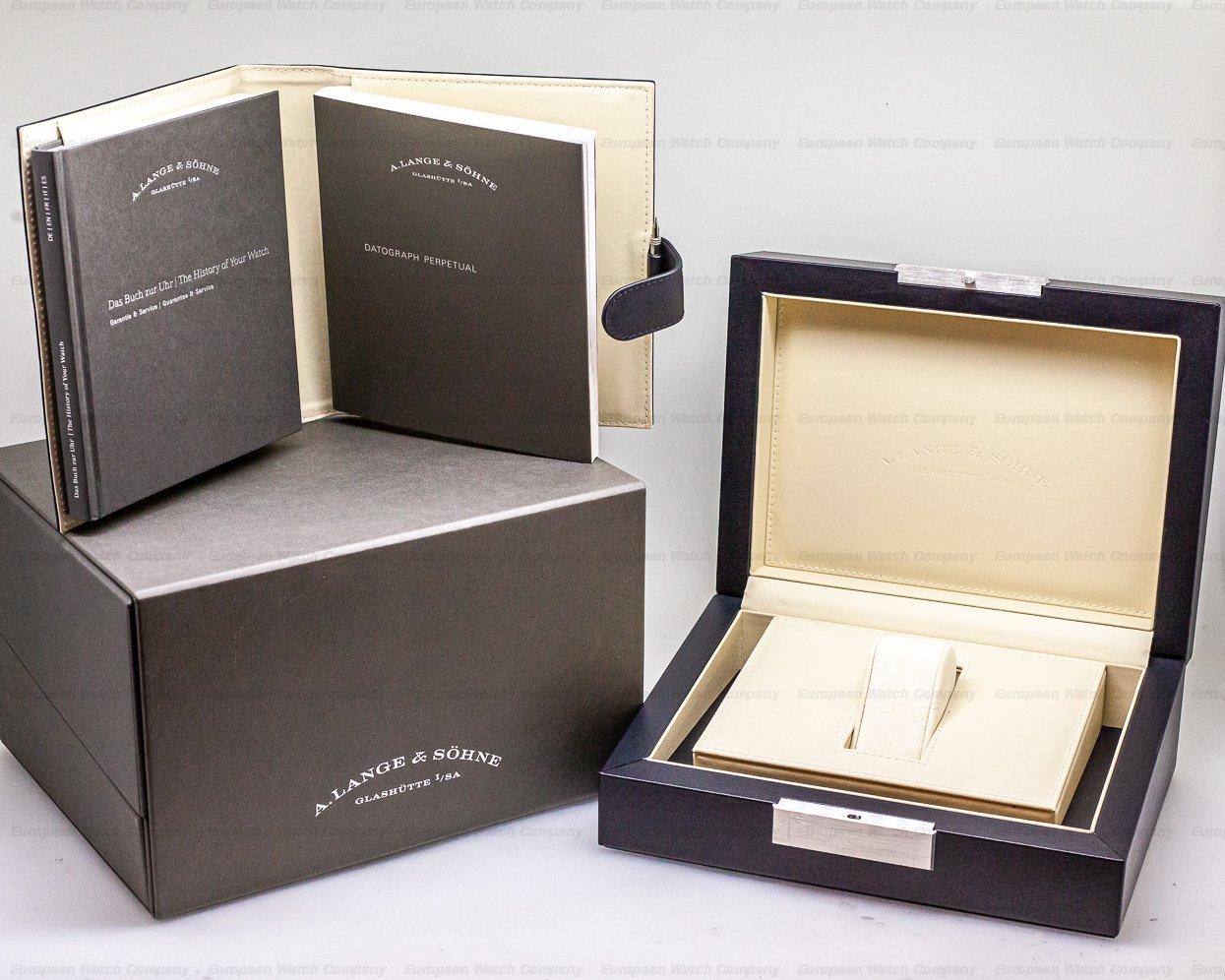 A. Lange and Sohne 410.038E Datograph Perpetual Calendar Chronograph White Gold RARE