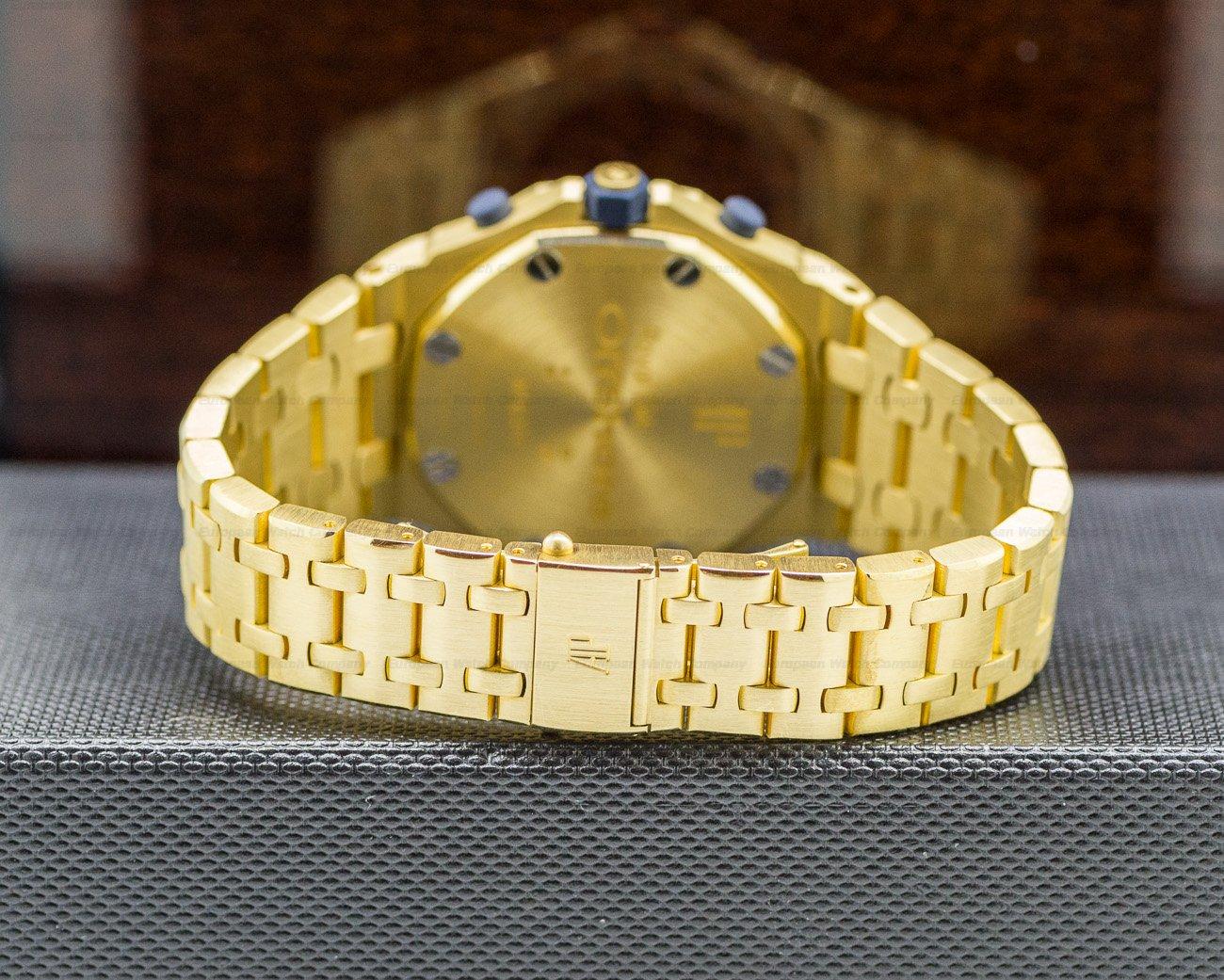 Audemars Piguet 25721BA.00.1000BA.02 Royal Oak Offshore Blue Dial 18K Yellow Gold
