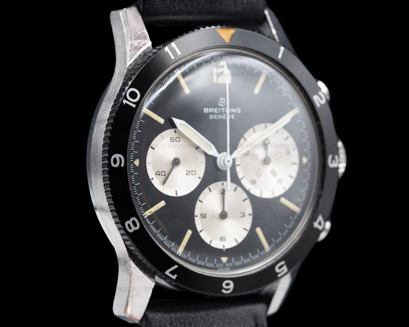 "Breitling 765 CP ""Jean Claude Killy"" Co-Pilot Watch SS SUPER EXAMPLE"