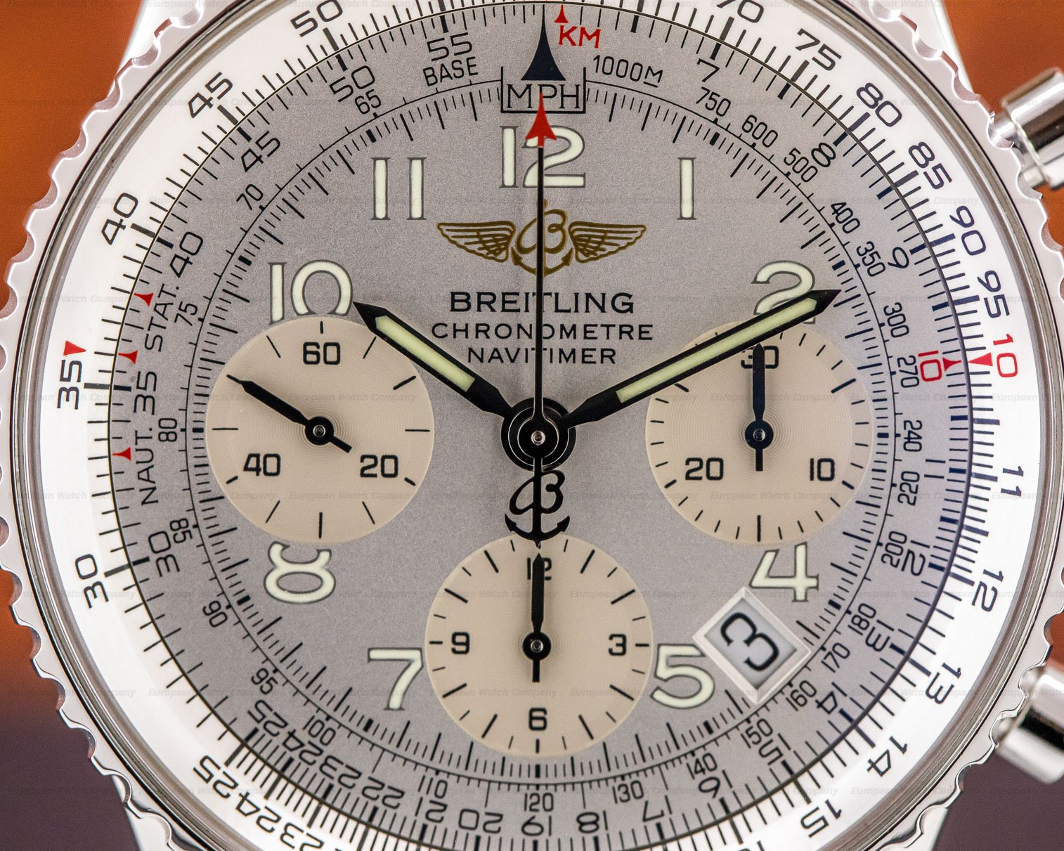 Breitling A23322 Navitimer Chronograph SS Silver Dial
