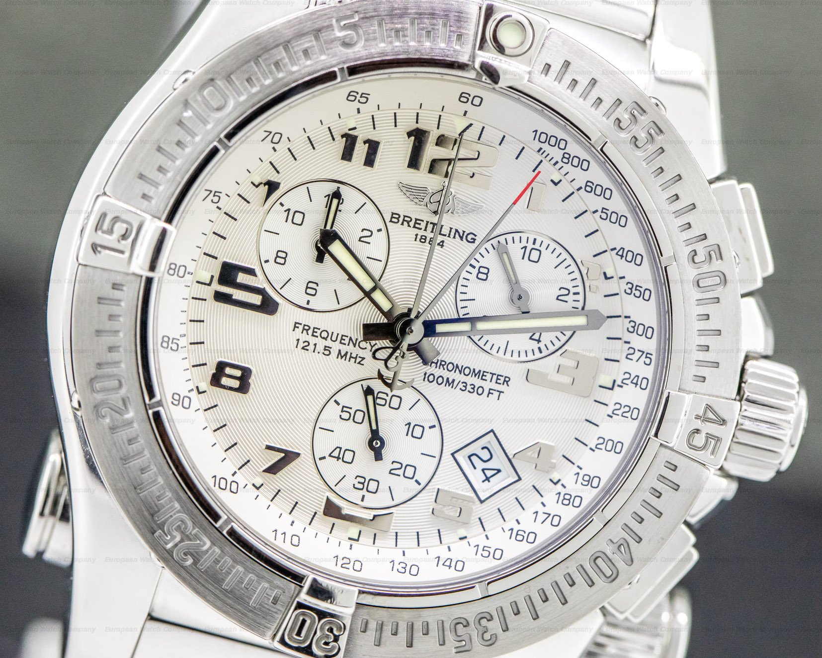 Breitling A73322 Emergency Mission White Dial Stainless Steel Bracelet