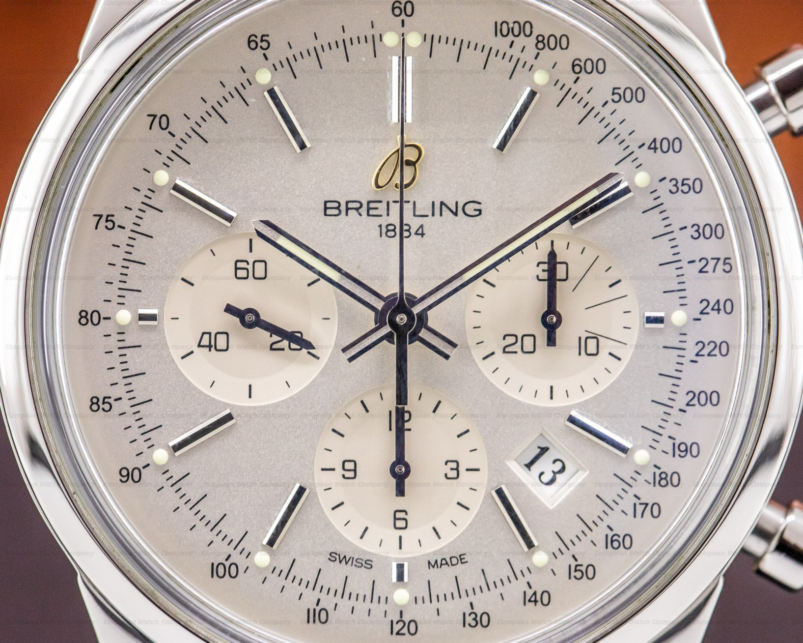 Breitling AB015112/G715 Transocean Chronograph Limited SS Silver Dial
