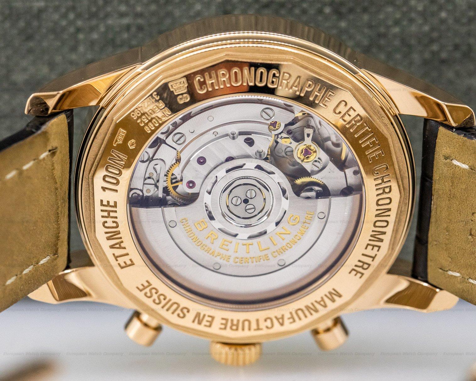 Breitling RB015212/G738-2LD Transocean Chronograph 18K Rose Gold