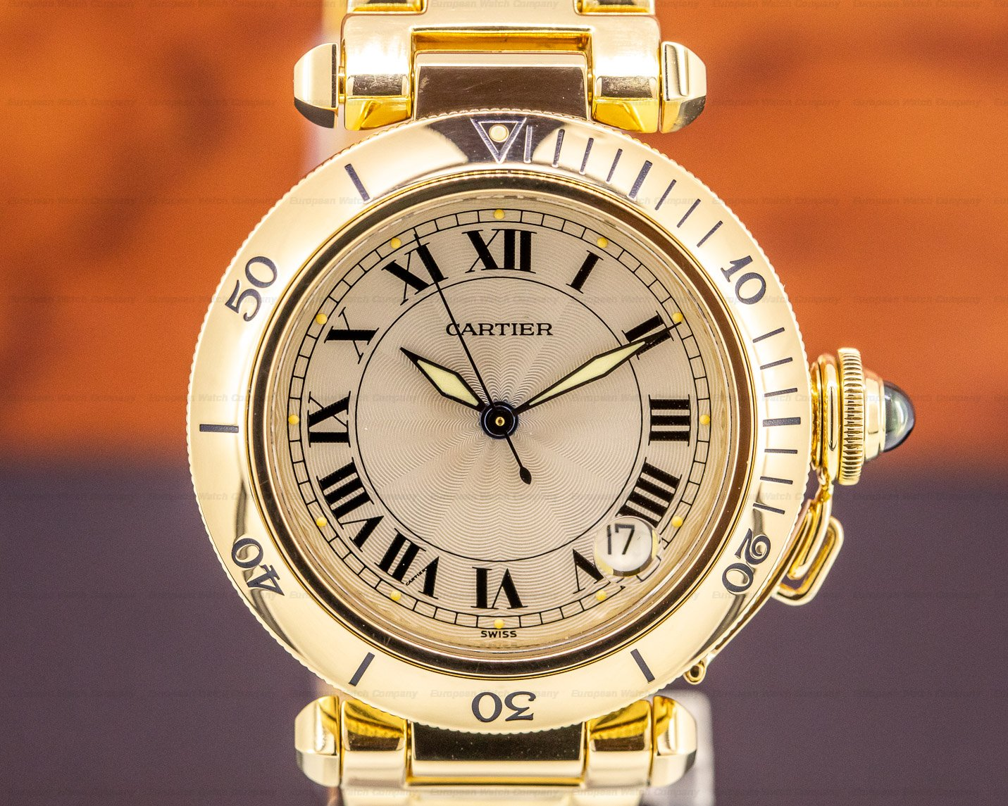 Cartier 1035 Pasha Automatic 18k Yellow Gold 35MM