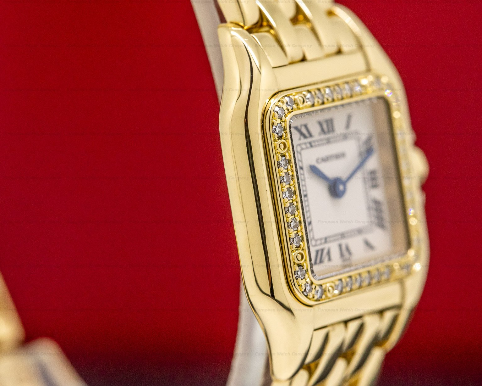Cartier 1280 Ladies Panthere Mini Yellow Gold / Diamonds