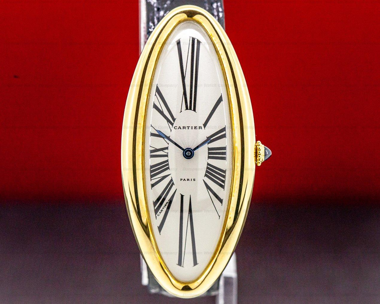 """Cartier W1507451 Baignoire Allongee """"Privee Collection"""" 18K Yellow Gold RARE"""