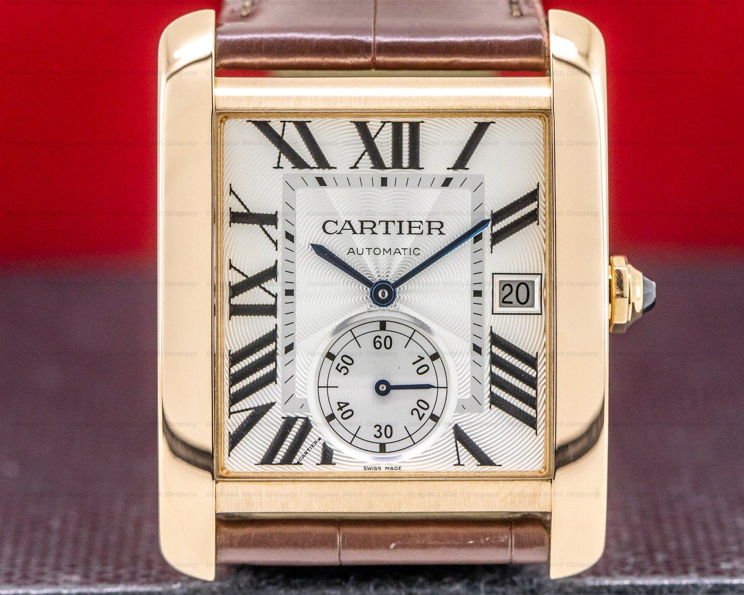 Cartier W5330001 Tank MC Silver Dial 18k RG Automatic