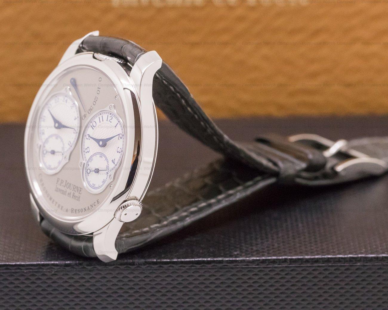 F. P. Journe Chronometre Resonance Platinum Silver Dial 40MM FINAL EDITION