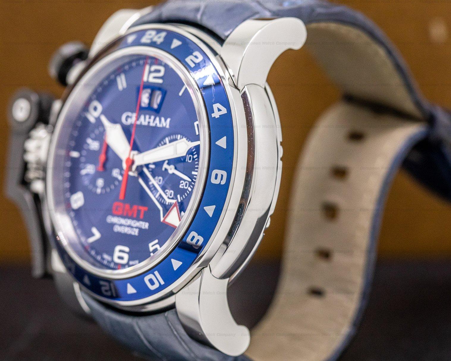 Graham 2OVGS.U06A Graham GMT Oversize Chronofighter Big Date Blue