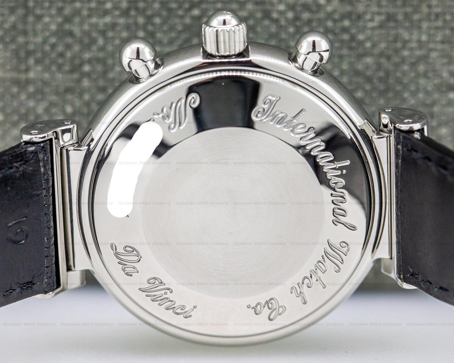IWC IW375030 Da Vinci Perpetual Chronograph Black SS / Alligator