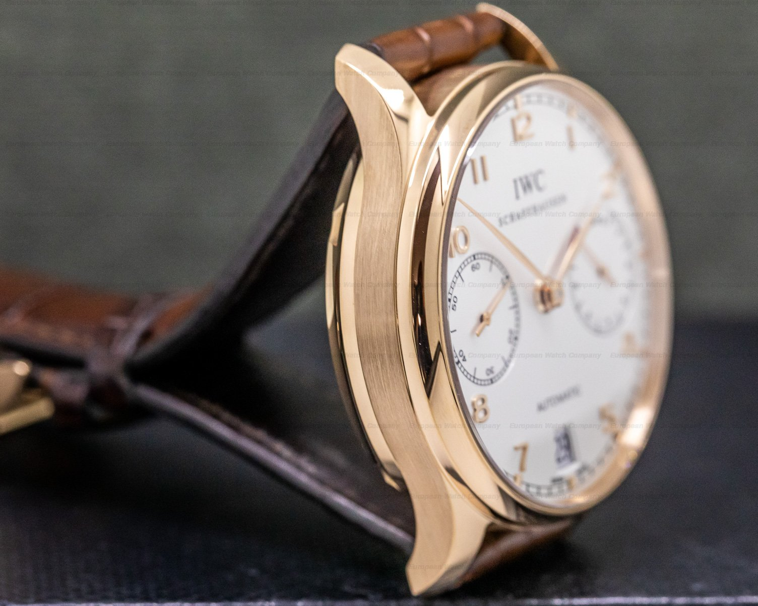 IWC IW500101 Portuguese 7 Day Automatic 18k Rose Gold