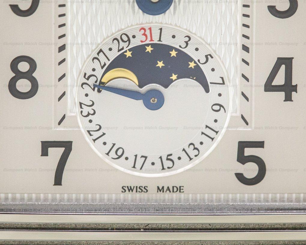 Jaeger LeCoultre Q3758420 Reverso Grande Calendar SS Silver Dial