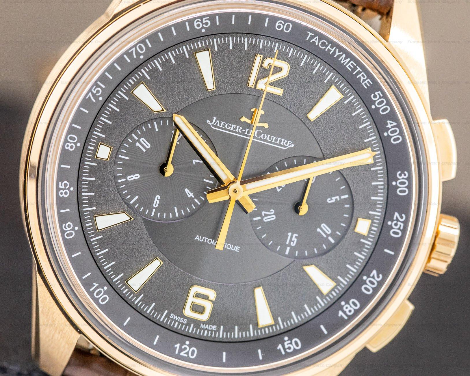 Jaeger LeCoultre Q9022450 Polaris Chronograph 18k Rose Gold / Grey Dial