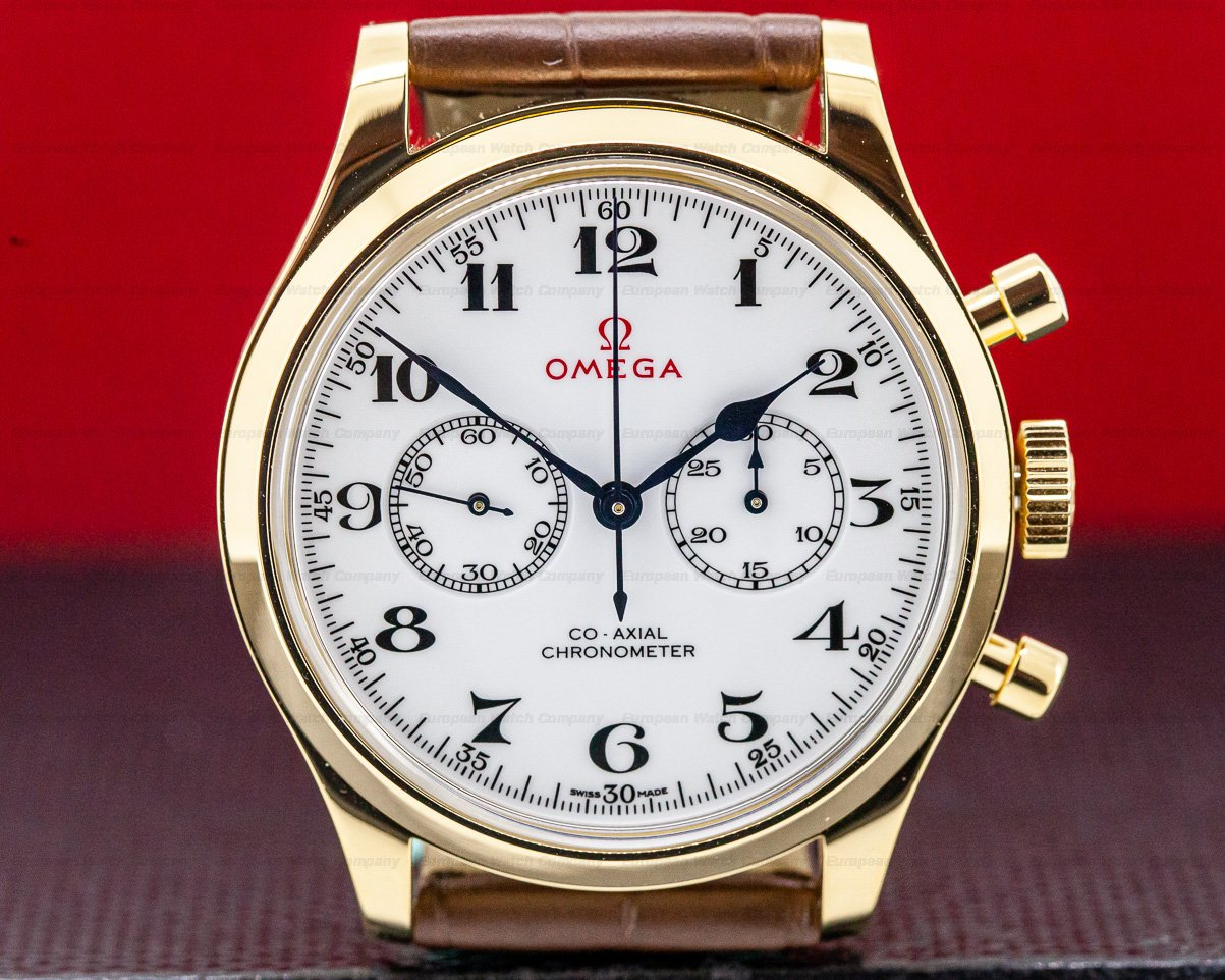 Omega 522.53.39.50.04.002 Olympic Official Timekeeper White Dial 18k Yellow Gold LIMITED