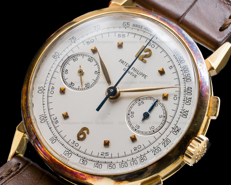 Patek Philippe 1579 1579 Vintage Chronograph 18K Yellow INCREDIBLE PATINA