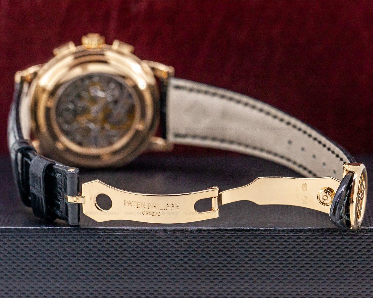 Patek Philippe 5070R 5070 Rose Gold Lemania Chronograph / Silver Dial