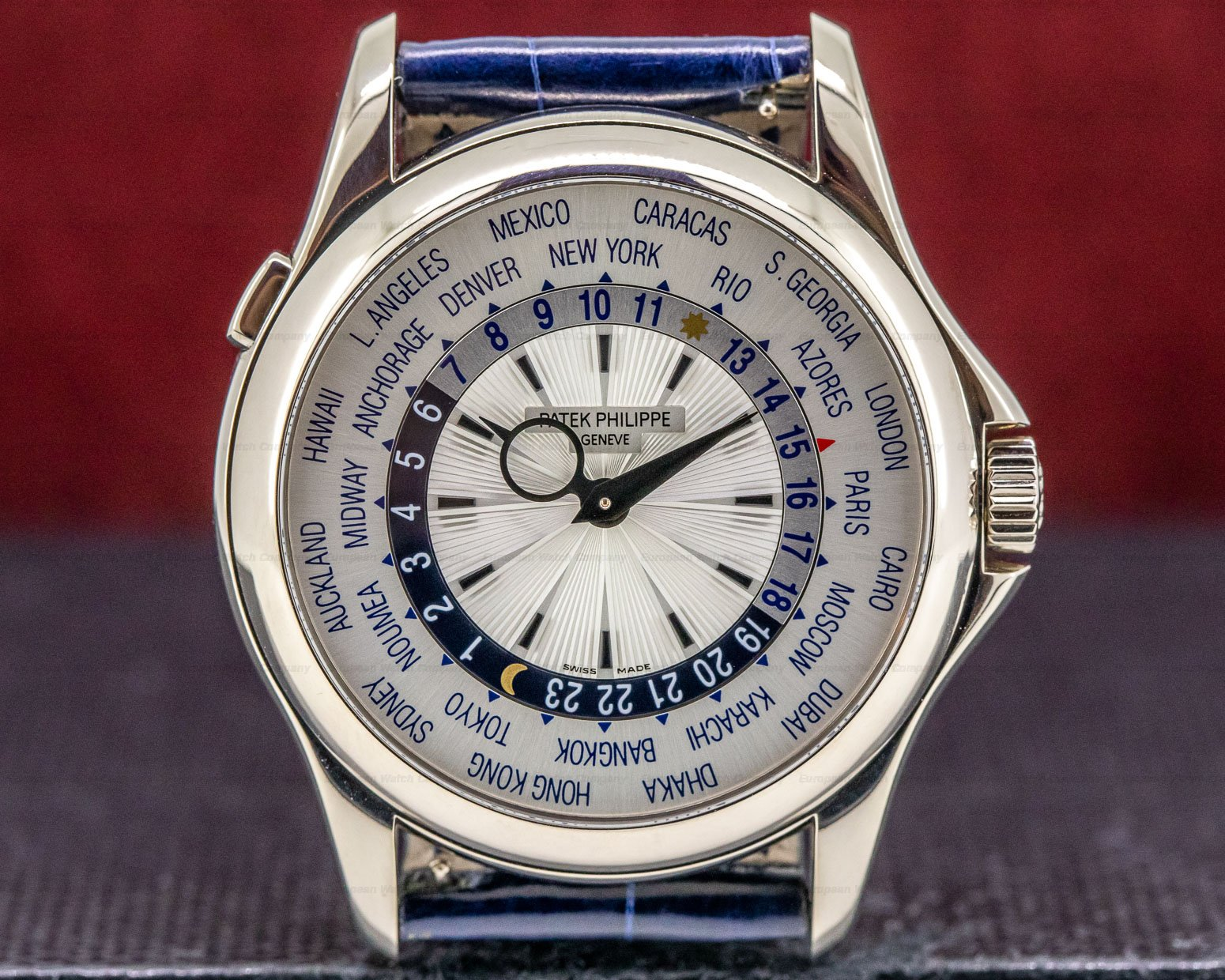 Patek Philippe 5130G-001 World Time 18K White Gold Silver Dial
